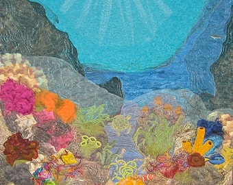 Life on the Reef - Fiber Art Wall Hanging