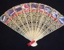 Hand Fan - Vintage Smoky Mountains Souvenir Fan - Trinket Fan - Vintage Souvenir Fan - Vintage Fan - Plastic Fan - 1960's Collectable