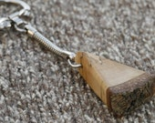 Wooden spalted birch key ring