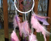 Pink and Purple Peace Dream Catcher