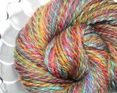 Handspun Yarn - Coral Reef - Falkland Wool, Heavy Worsted Weight, 180 Yards