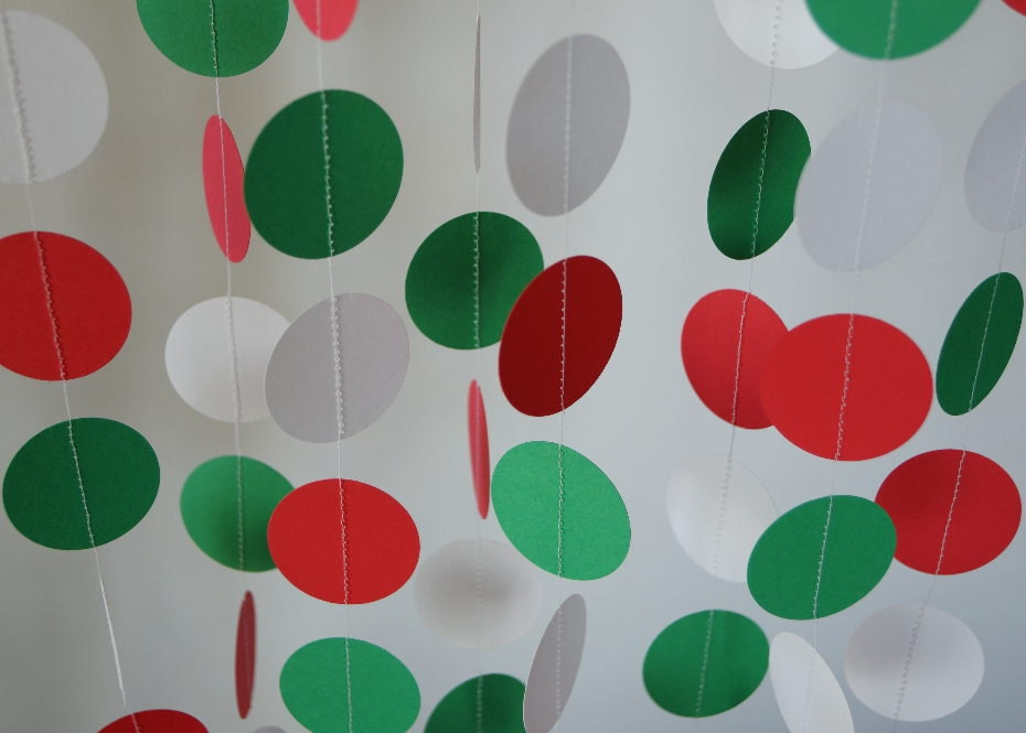 Red White And Green Paper Garland Italy Mexico Decor