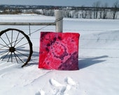 Pink with purple rings-Snow Dyed cotton