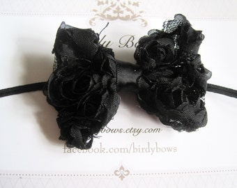Black Baby Bow, Infant Bow, Baby Girl Bow, Baby Headbands, Infant Headbands, Baby Girl Headbands