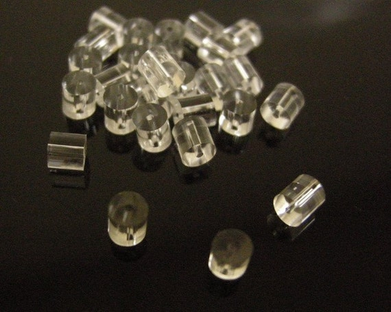 100pcs Clear Rubber Back Earring Stoppers 2345