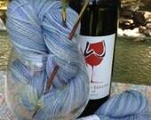 "Creé-Ah's Breath 100% Baby Alpaca Hand Painted DK  yarn ""Tranquil"" 200 yd, 80gm"