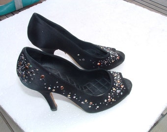 DOLCE GABBANA elegant shoes size 38 made in Italy circa 1980's free shipping