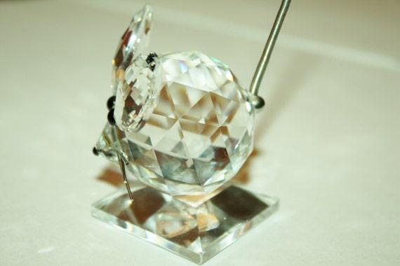 Vintage Swarovski Crystal Large Mouse Figurine 2 1 2 by
