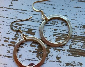 Golden Brass Hoop earrings