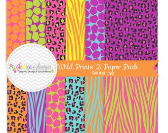 INSTANT DOWNLOAD,  Animal print cute digital paper, zebra background, , for commercial use, invitations, greeting cards