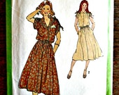 Misses Flared Skirt Dress and Tie Belt Sewing Pattern Simplicity 8903 Size 6 8