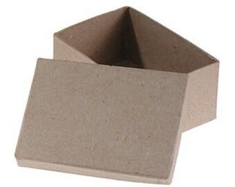 Rectangle Paper Mache Box 3 x 4 3/4 inches