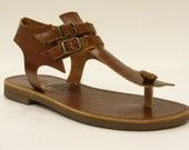 Leather sandals elegant summer style