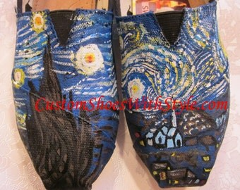 Custom painting on YOUR Tom's Starry Starry night