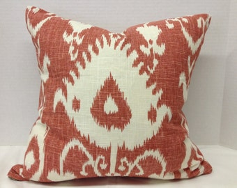"18"" Coral Print Decorator Pillow Cover"