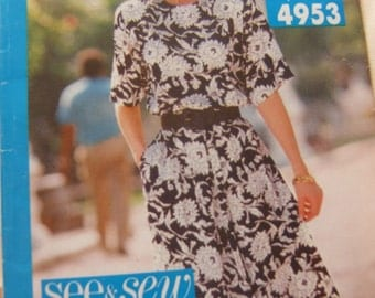 Simplicity 8124 uncut womens dress size 16 - 24