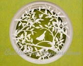The spring song. Original  papercut by Catherine Bogomolova