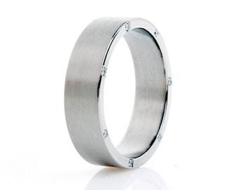 contemporary men wedding rings