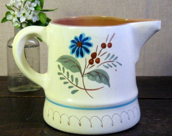 Vintage Stangle Blue Daisy Milk Pitcher - 1 Quart