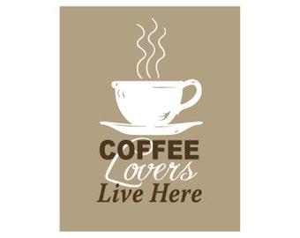 Coffee Art Print Coffee Kitchen Art Coffee Decor Kitchen Coffee Lover Coffee Cup Mug Coffee Love Coffee Kitchen Wall Art Poster Sign Gift