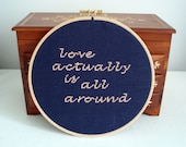 Love actually framed cross stitch