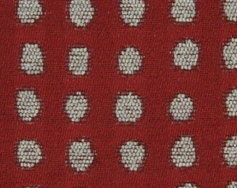 Modern Floral Fabric Red Large Scale Floral Print Design