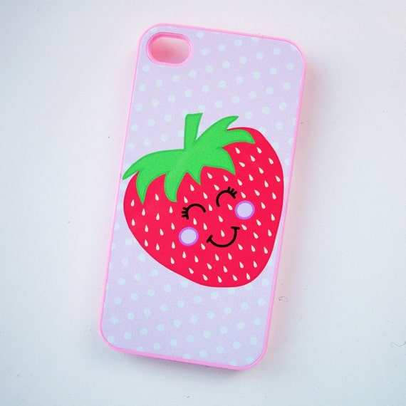 Strawberry Cell Cover phone cover strawberry phone by Hoobynoo