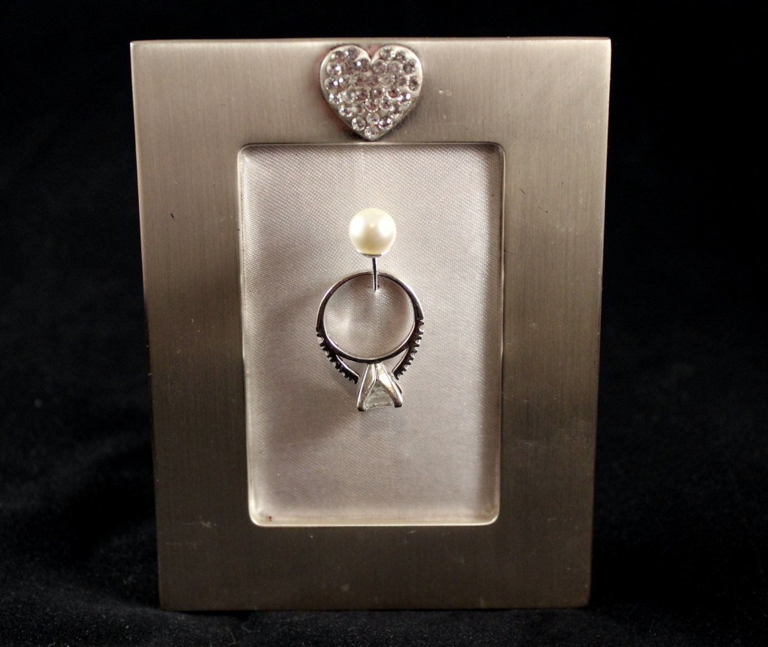 Wedding Engagement Ring Picture Frame Holder