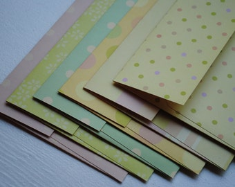 Pastel Print Cardstock Set of 6 Handmade Envelopes for Easter or Baby by Paper Hearts Station on Etsy