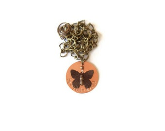 be you tiful necklace // copper and brass jewelry