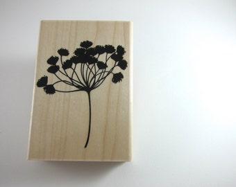 Dandelion Stamp - Large Wildflowers Wood Mounted Rubber Stamp Wedding Stamp
