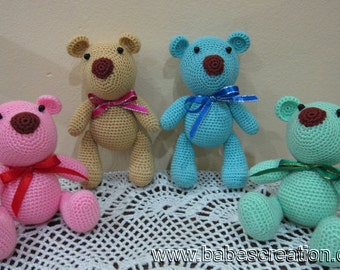 SALE 75% OFF! Colorful Bear Amigurumi Pattern, Instant Download!