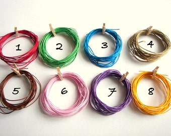 Cotton  Cord for Jewelry,Woven Waxed  Cotton cord for Necklace,Do it yourself jewelry