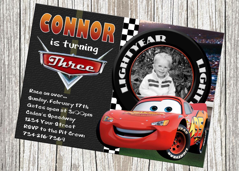 Disney Car Invitations with adorable invitation example