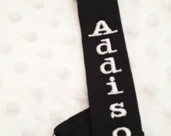 Pacifier Clip Black and White Stylish Personalized -Boy or Girl