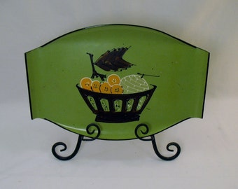 Mid Century Laquer Serving Tray