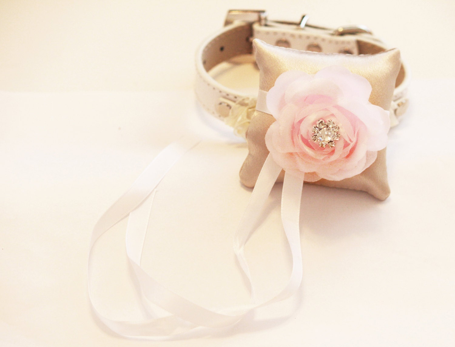 Pink and Ivory Ring Pillow for dogs Cute Chic ring pillow