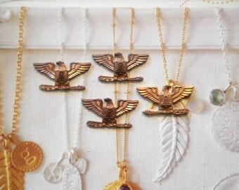 "4 Vintage Brass 1"" U.S. Coast Guard Auxiliary Badges"