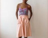 CLEARANCE Light Coral Knee Length Wrap Skirt