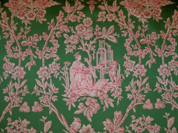 STROHEIM ROMANN Chinoiserie Oriental TOILE Fabric 1 yard