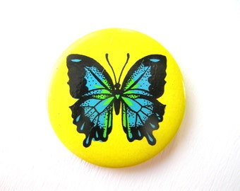 Butterfly Pin Button Badge Soviet Vintage Pins Collectibles Pinback Collectible, Retro Brooch, USSR Pins Pin Buttons