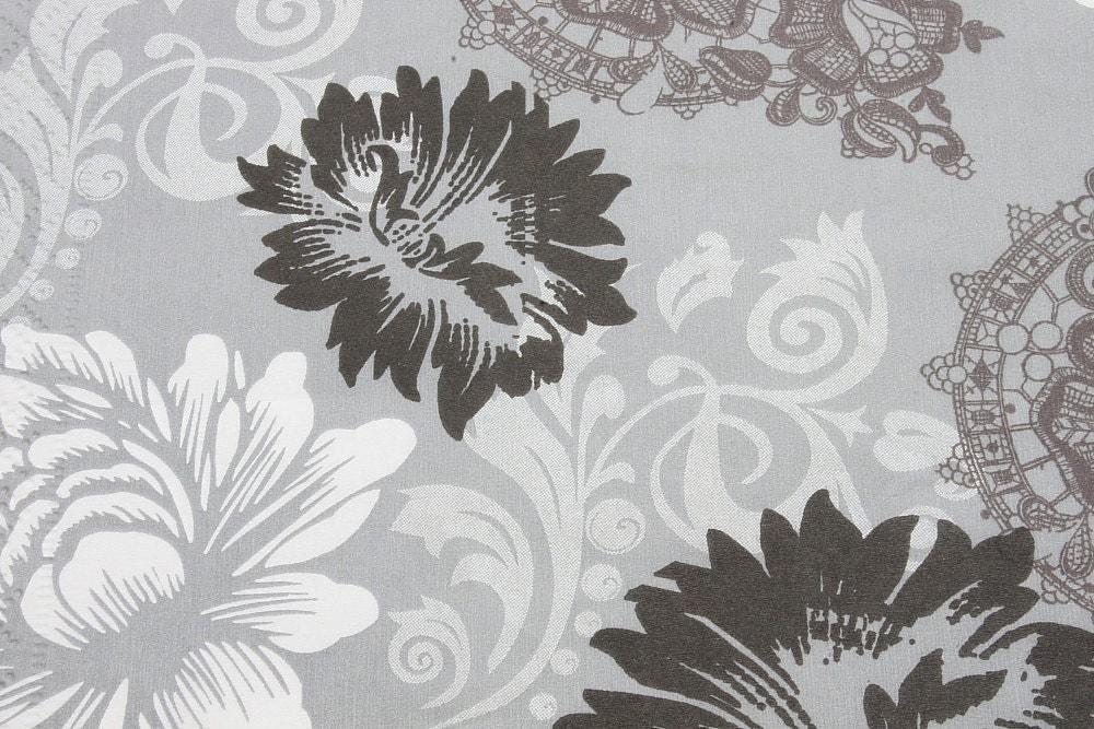 Gray Floral Decoupage Paper Napkin Serviette For Crafts X