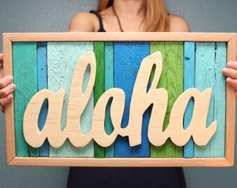 Aloha Reclaimed Wood Sign