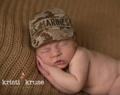 USMC MARINE Infant Military Caps, Marine Baby, Marine Hat, Military Baby