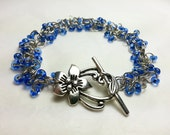 Sapphire Blue Shaggy Chainmaille Bracelet
