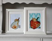 Set of Kitchen Art - Fruits - Gift for a New Home
