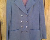 Double-Breasted Vintage Wool Coat - Size Small