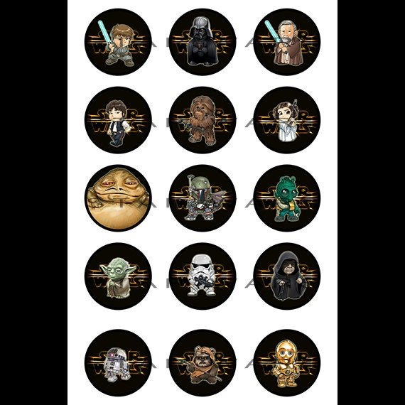 "Items Similar To Star Wars 4""x6"" Digital Sets Of 1"