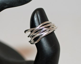 Stack rings, 5 sterling silver stack rings, made to order