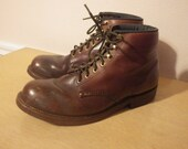 Vintage made in usa redwing red wing style Work N Sport Cork sole 8.5 8 1/2 mens Short boot round toe